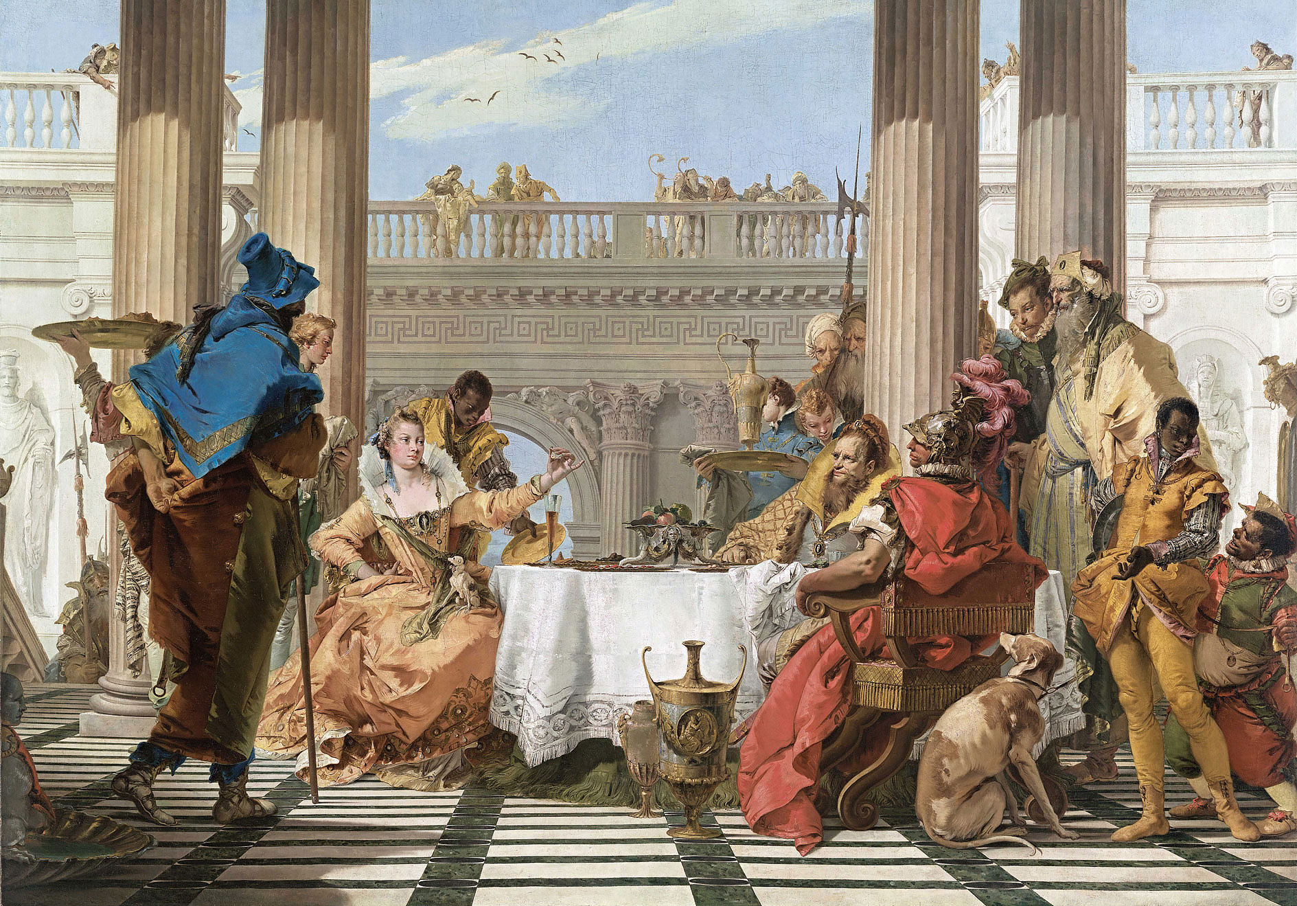 Giambattista Tiepolo – The Banquet of Cleopatra